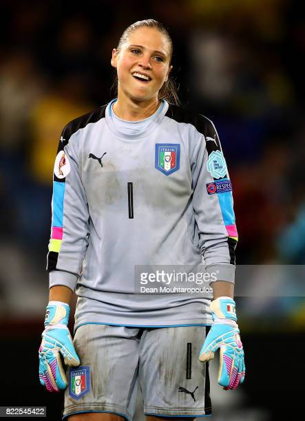 Laura Giuliani of Italy reacts during the UEFA Women's Euro 2017 Group B match between Sweden and Italy at Stadion De Vijverberg on July 25 2017 in...