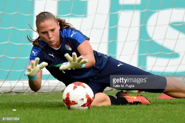 Laura Giuliani of Italy women's national team in action during a training session on the eve of their UEFA Women's 2017 Group B match against Russia...