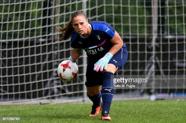 Laura Giuliani of Italy women's national team in action during a training session during the UEFA Women's EURO 2017 at De Zwervers training center on...