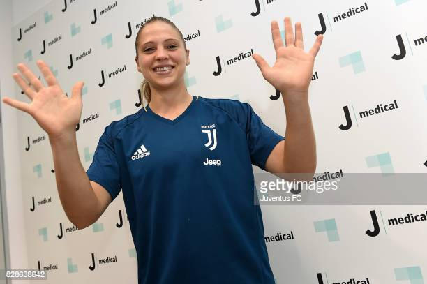 Laura Giuliani of Juventus poses before medical tests at J Medical on August 9 2017 in Turin Italy