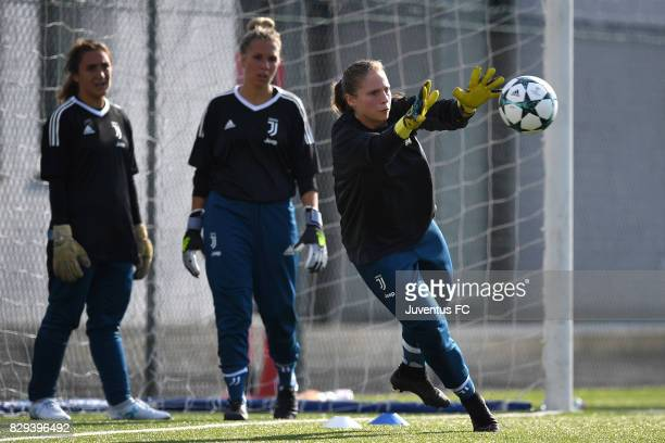 Laura Giuliani of Juventus Women during a training session at Vinovo on August 10 2017 in Turin Italy