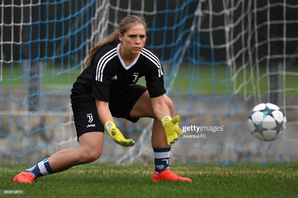 Laura Giuliani of Juventus Women during a training session on August 16, 2017 in Aymavilles near Aosta, Italy.