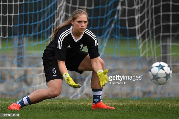 Laura Giuliani of Juventus Women during a training session on August 16 2017 in Aymavilles near Aosta Italy