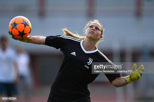 Laura Giuliani of Juventus Women in action during a Juventus Women Training Session at Sisport Trainig Center on August 25 2017 in Turin Italy