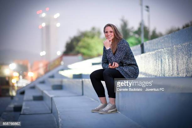 Laura Giuliani poses before a Juventus Women training session on October 5 2017 in Turin Italy