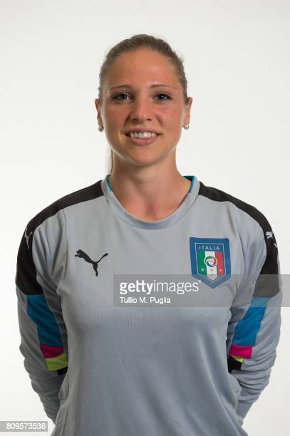 Laura Giuliani poses for Italy Women's portrait session ahead of UEFA Women's EURO 2017 at Coverciano on June 29 2017 in Florence Italy