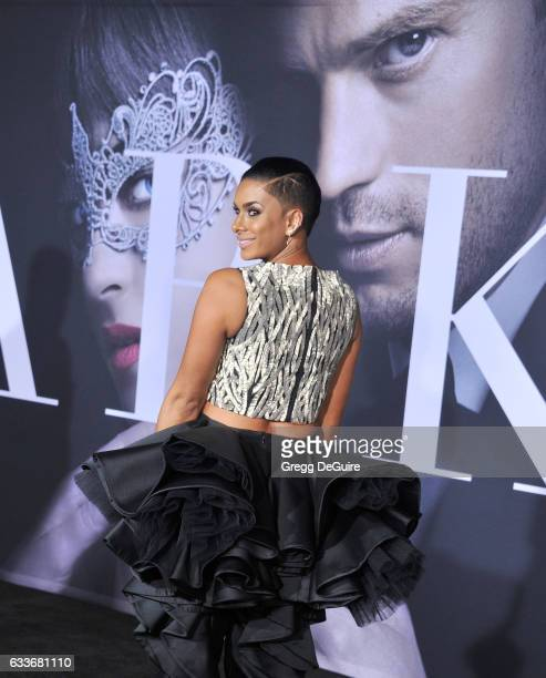 Laura Govan arrives at the premiere of Universal Pictures' 'Fifty Shades Darker' at The Theatre at Ace Hotel on February 2 2017 in Los Angeles...