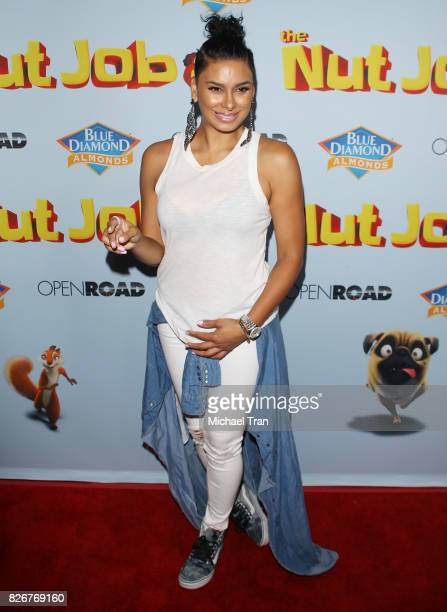 Laura Govan arrives to the Los Angeles premiere of 'The Nut Job 2 Nutty By Nature' held at Regal Cinemas LA Live on August 5 2017 in Los Angeles...