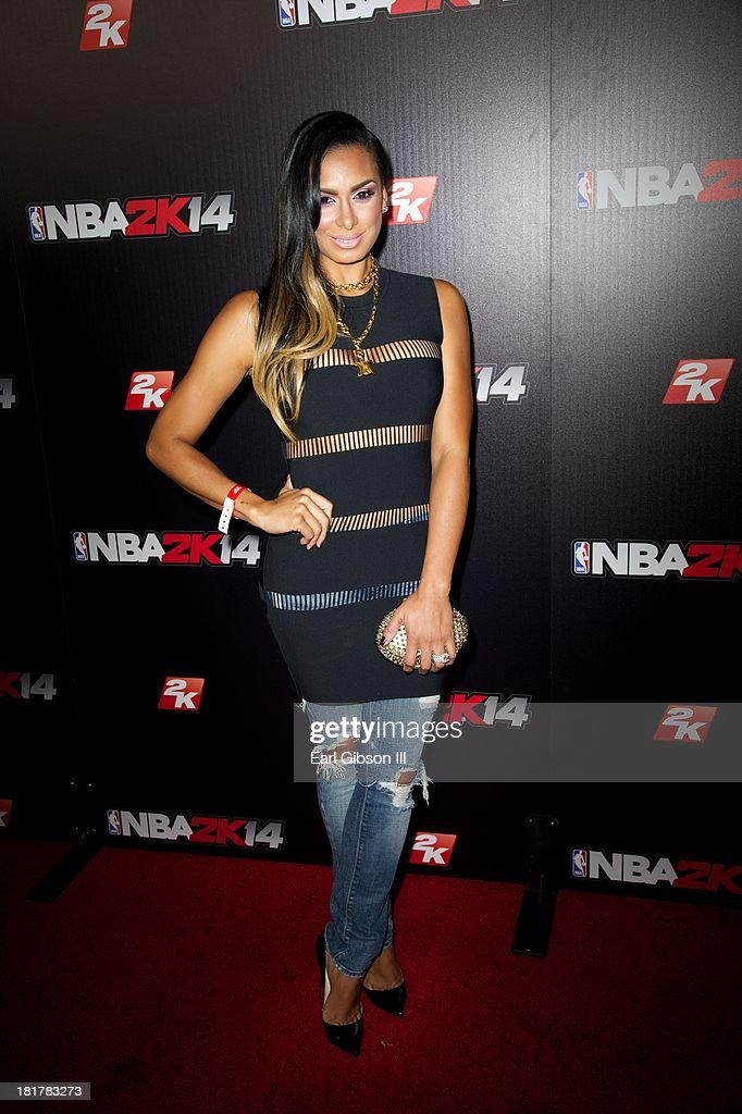 Laura Govan attends the NBA2K14 premiere at Greystone Manor Supperclub on September 24, 2013 in West Hollywood, California.