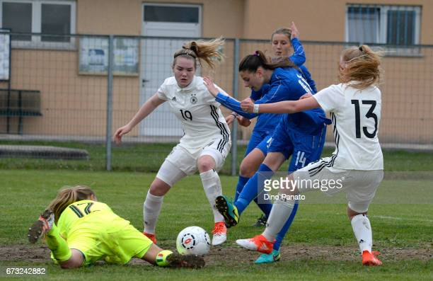 laura Haas and Lea Marie Gruennagel of Germany women's U16 in action during the 2nd Female Tournament 'Delle Nazioni' match between Germany U16 and...