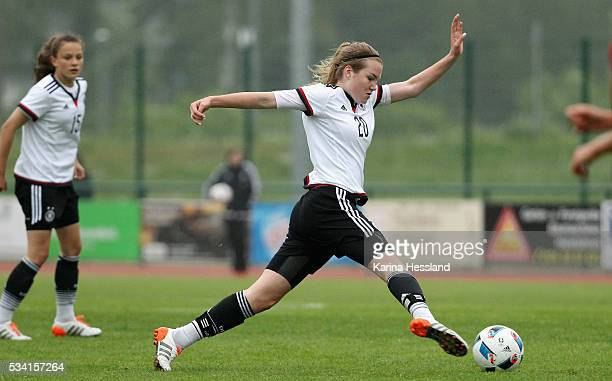 Laura Haas of Germany during the International Friendly match between U15 Girls Germany and U15 Girls Czech Republic at Auenstadion on May 24 2016 in...