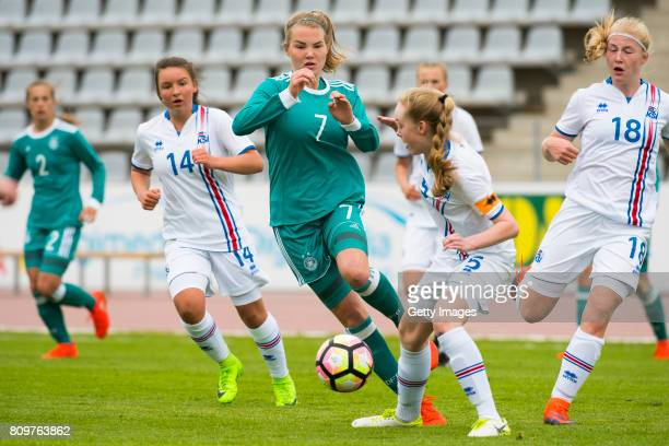 Laura Haas of Germany during the Nordic Cup 2017 match between U16 Girl's Germany and U16 Girl's Iceland on July 6 2017 in Oulu Finland