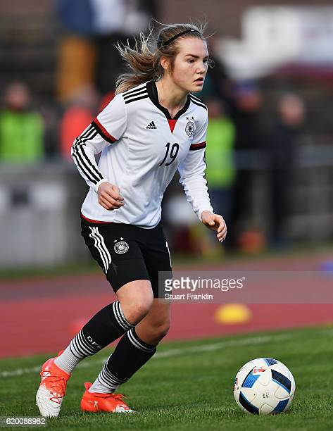 Laura Haas of Germany in action during the International Friendly match between U16 Girl's Germany and U16 Girl's Denmark on November 1 2016 in...