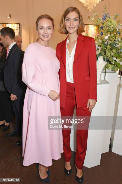 Laura Haddock and Arizona Muse attend the UK launch of Birks Jewellery at Canada House Trafalgar Square on October 16 2017 in London England