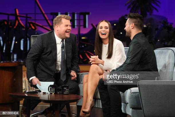 Laura Haddock and Dominic Cooper chat with James Corden during 'The Late Late Show with James Corden' Thursday June 22 2017 On The CBS Television...
