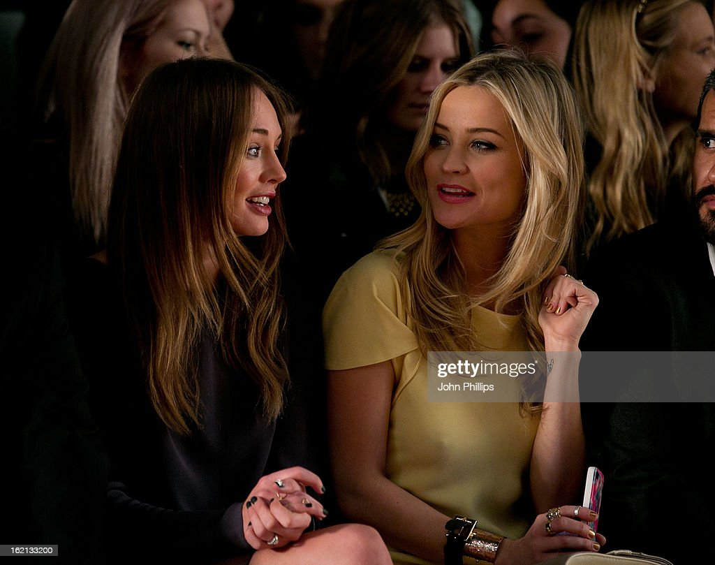 <a gi-track='captionPersonalityLinkClicked' href=/galleries/search?phrase=Laura+Haddock&family=editorial&specificpeople=4949007 ng-click='$event.stopPropagation()'>Laura Haddock</a> and <a gi-track='captionPersonalityLinkClicked' href=/galleries/search?phrase=Laura+Whitmore&family=editorial&specificpeople=5599316 ng-click='$event.stopPropagation()'>Laura Whitmore</a> attend the Maria Grachvogel show during London Fashion Week Fall/Winter 2013/14 at Somerset House on February 19, 2013 in London, England.