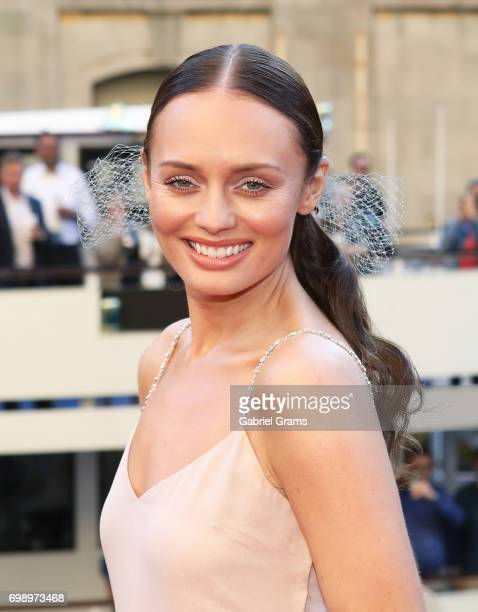 Laura Haddock arrives for the premiere of 'Transformers The Last Knight' at Civic Opera Building on June 20 2017 in Chicago Illinois