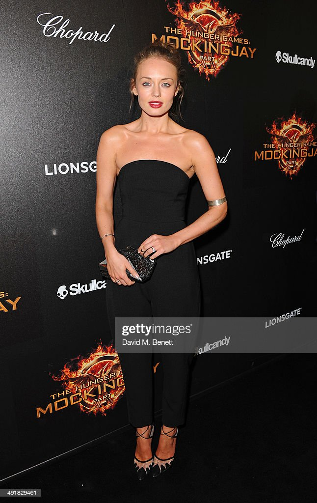 Laura Haddock attends Lionsgate's 'The Hunger Games: Mockingjay Part 1' party at a private villa on May 17, 2014 in Cannes, France.