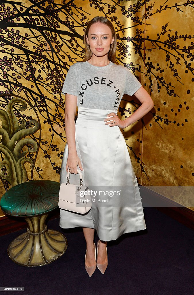 <a gi-track='captionPersonalityLinkClicked' href=/galleries/search?phrase=Laura+Haddock&family=editorial&specificpeople=4949007 ng-click='$event.stopPropagation()'>Laura Haddock</a> attends the 'Dior And I' UK Premiere after party at Loulou's on March 16, 2015 in London, England.