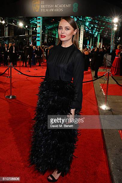 Laura Haddock attends the EE British Academy Film Awards at The Royal Opera House on February 14 2016 in London England