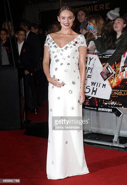 Laura Haddock attends 'The Hunger Games Mockingjay Part 2' UK premiere at Odeon Leicester Square on November 5 2015 in London England