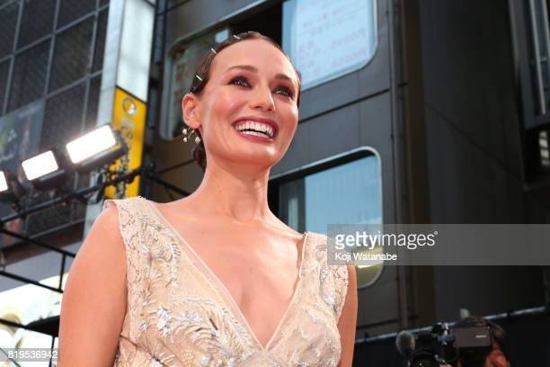 Laura Haddock attends the Japanese premiere of 'Transformers The Last Knight' at TOHO Cinemas Shinjuku on July 20 2017 in Tokyo Japan