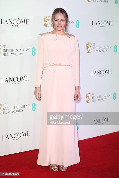 Laura Haddock attends the Lancome BAFTA nominees party at Kensington Palace on February 13 2016 in London England