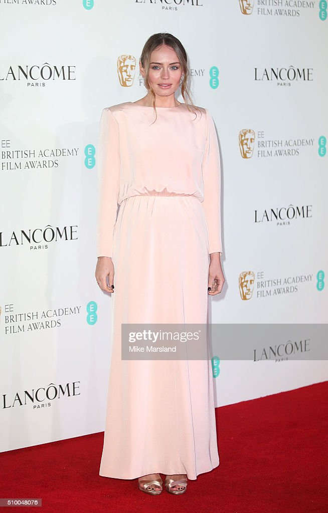 Laura Haddock attends the Lancome BAFTA nominees party at Kensington Palace on February 13, 2016 in London, England.
