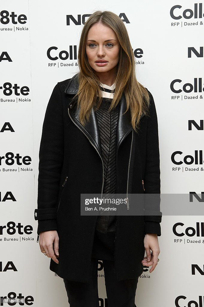 Laura Haddock attends the premiere of Rankin's Collabor8te connected by NOKIA at Regent Street Cinema on February 12, 2013 in London, England.