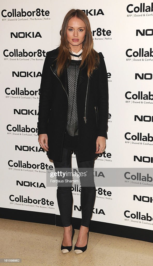<a gi-track='captionPersonalityLinkClicked' href=/galleries/search?phrase=Laura+Haddock&family=editorial&specificpeople=4949007 ng-click='$event.stopPropagation()'>Laura Haddock</a> attends the premiere of Rankin's Collabor8te connected by NOKIA at Regent Street Cinema on February 12, 2013 in London, England.