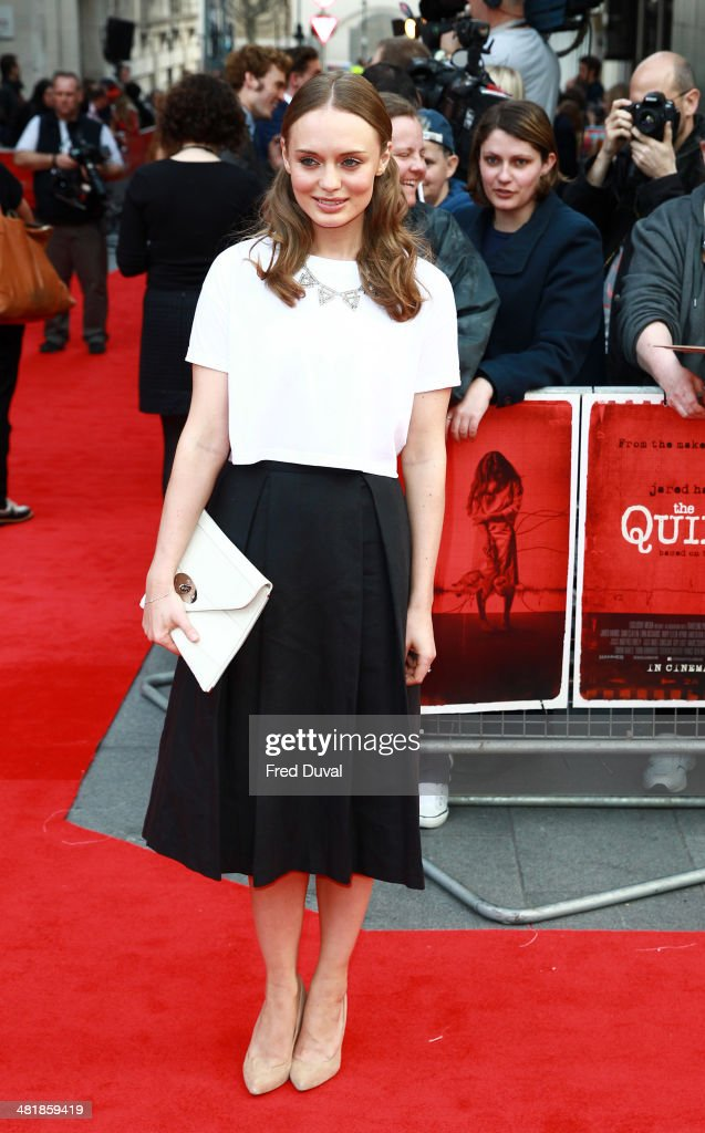 <a gi-track='captionPersonalityLinkClicked' href=/galleries/search?phrase=Laura+Haddock&family=editorial&specificpeople=4949007 ng-click='$event.stopPropagation()'>Laura Haddock</a> attends the UK film premiere of 'The Quiet Ones' at Odeon West End on April 1, 2014 in London, England.