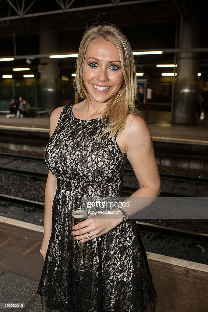 Laura Hamilton attends as The northern Belle makes a fundraising trip in aid of the 'When You Wish Upon a Star' charity on April 13, 2013 in Manchester, England.