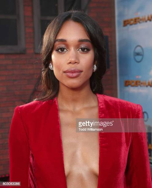 Laura Harrier attends the premiere of Columbia Pictures' 'SpiderMan Homecoming' at TCL Chinese Theatre on June 28 2017 in Hollywood California