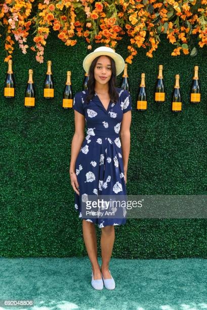 Laura Harrier attends The Tenth Annual Veuve Clicquot Polo Classic Arrivals at Liberty State Park on June 3 2017 in Jersey City New Jersey