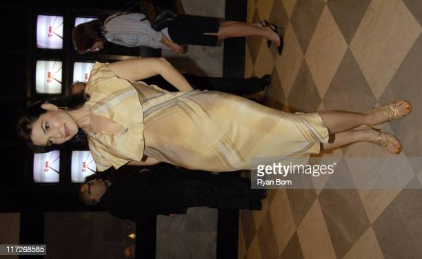 Laura Harring wearing Fendi during Huff Season 2 Premiere New York Preview Screening at The Museum of Television and Radio in New York City New York...