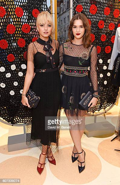 Laura Hayden and Sai Bennett attend as RED Valentino celebrates the opening of their first London flagship store during LFW on September 17 2016 in...