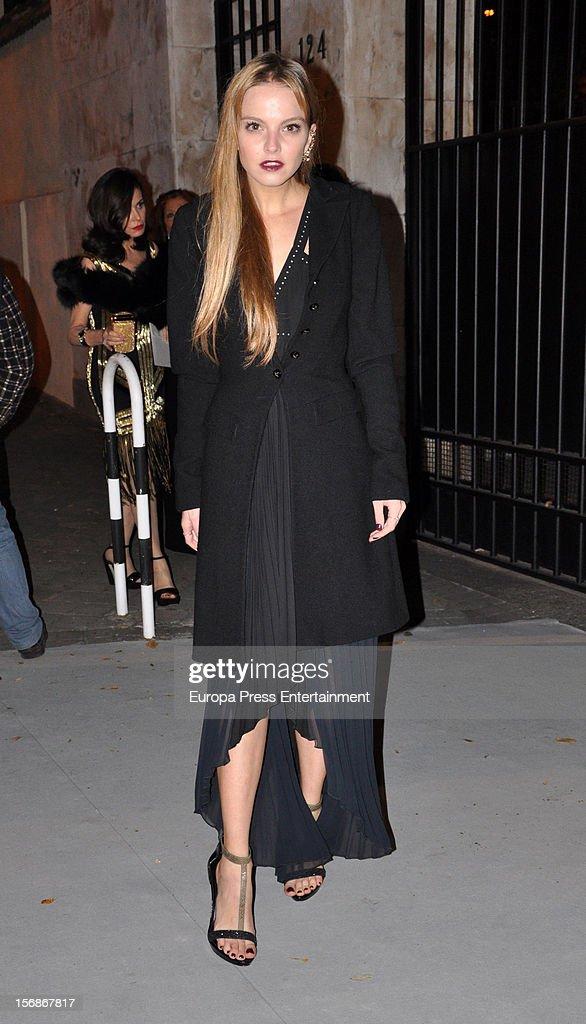 Laura Hayden arrives at Marie Claire Prix de la Moda Awards 2012 on November 22, 2012 in Madrid, Spain.