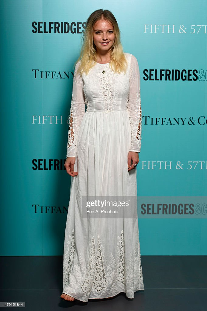 Laura Hayden arrives at the Tiffany & Co. immersive exhibition 'Fifth & 57th' at The Old Selfridges Hotel on July 1, 2015 in London, England.