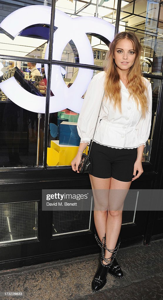 Laura Hayden attends a party for www.getthegloss.com hosted by Chanel at Chanel Covent Garden store on July 10, 2013 in London, England.