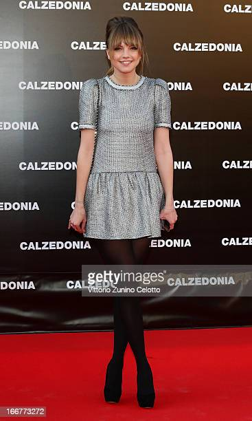 Laura Hayden attends Calzedonia Summer Show Forever Together on April 16 2013 in Rimini Italy