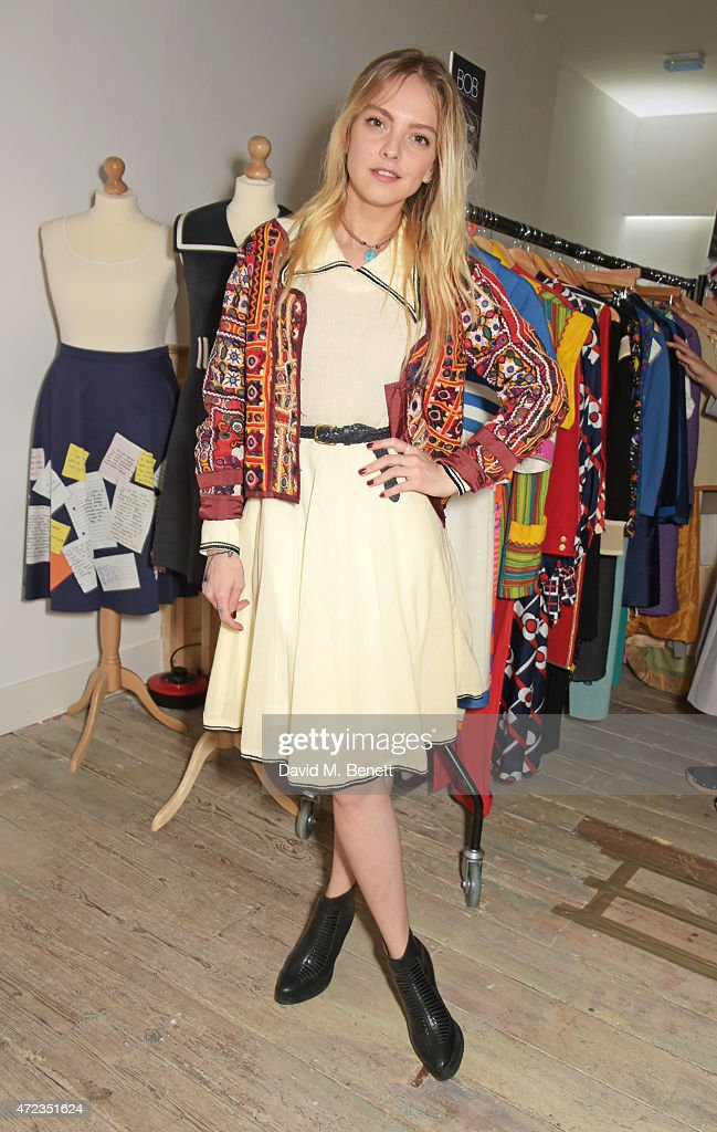 Laura Hayden attends the BOB by Dawn O'Porter popup boutique launch party in Covent Garden on May 6 2015 in London England