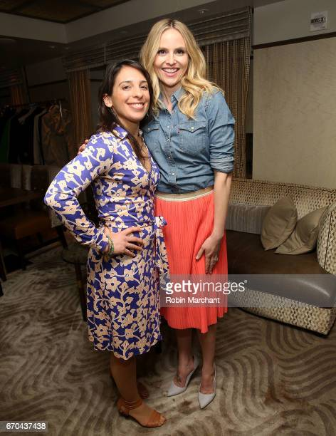 Laura Haykel and Rosie Pope attend Luna Bar And Motivate Design Present Wage On Making The Wage Gap History at WestHouse Hotel on April 19 2017 in...