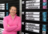 Laura Hendriksen of Hele Park Golf Centre poses for a photo after winning the Glenmuir Women's PGA Professional Championship Regional Qualifier at...