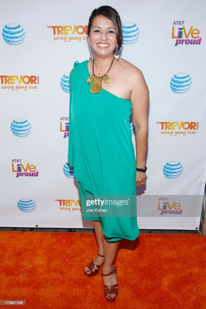 Laura Hernandez, Executive Director Diverse Markets for AT&T, attneds Adam Lambert Performance And Check Donation Presentation To The Trevor Project For 'Live Proud' Campaign at Playhouse Hollywood on July 3, 2013 in Los Angeles, California.