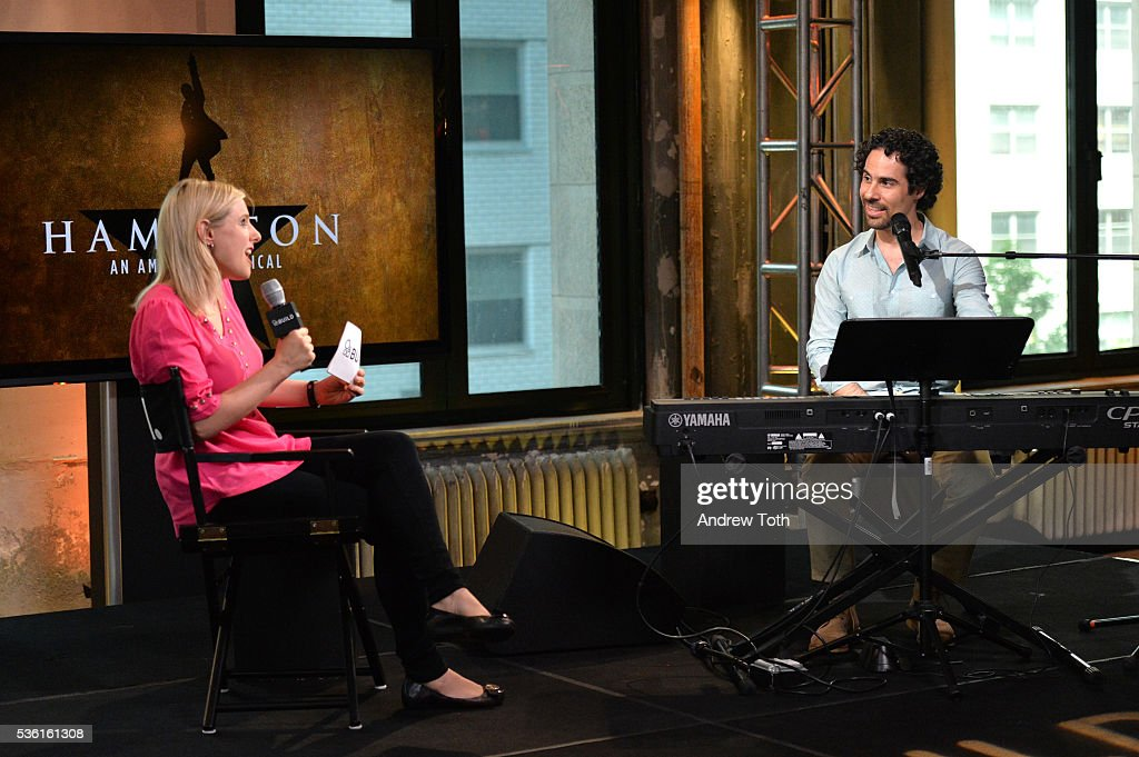 Laura Heywood and Alex Lacamoire attend AOL Build Speaker Series Alex Lacamoire 'Hamilton' at AOL Studios In New York on May 31, 2016 in New York City.