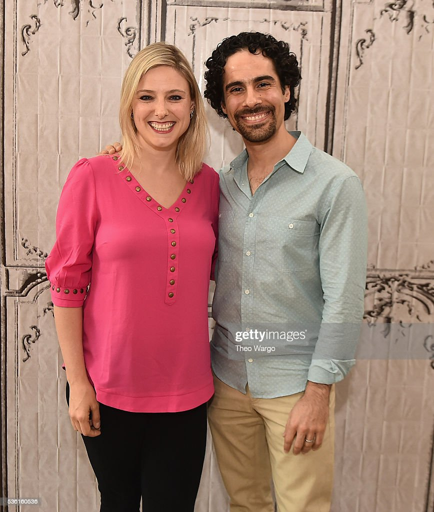 Laura Heywood and Alex Lacamoire attend the AOL Build Speaker Series - Alex Lacamoire, 'Hamilton' at AOL Studios In New York on May 31, 2016 in New York City.