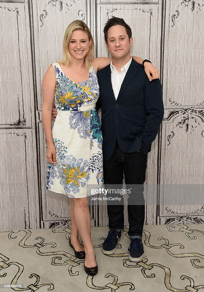 Laura Heywood and Christopher Fitzgerald attend AOL Build Speaker Series - Christopher Fitzgerald, 'Waitress' at AOL Studios In New York on May 31, 2016 in New York City.