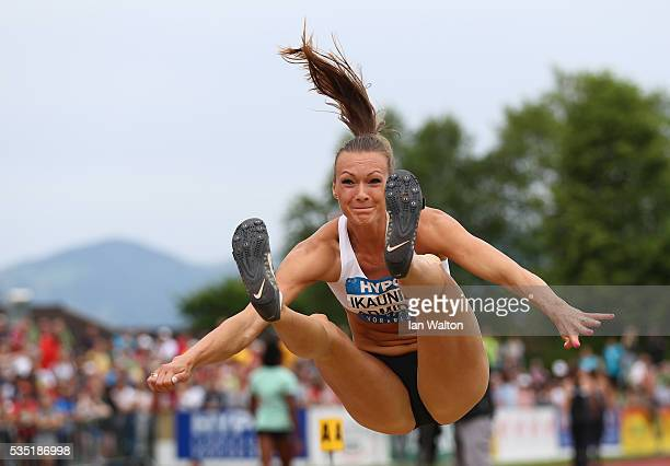 Laura IkaunieceAdmidina in action in the Women's Heptathlon long jump during the Hypomeeting Gotzis 2016 at the Mosle Stadiom on May 29 2016 in...