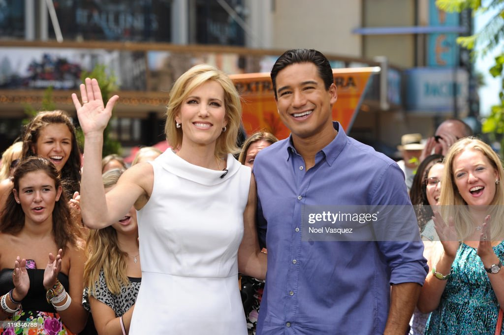Laura Ingraham L And Mario Lopez Visit Extra At The Grove On July 18 2011 In Los Angeles