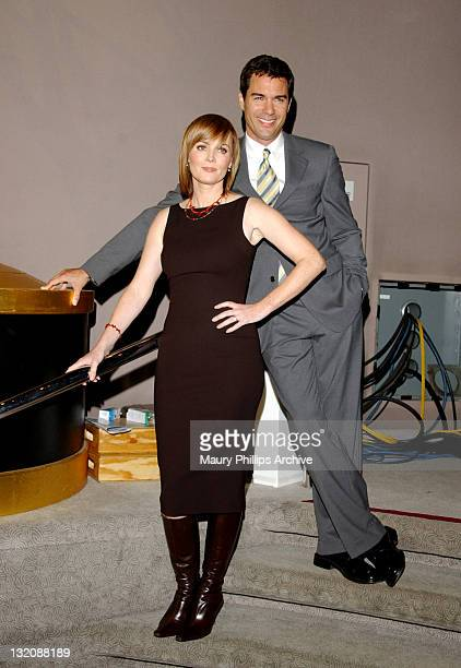 Laura Innes Eric McCormack during The 54th Primetime Emmy Award Nominations Announcement at ATAS' Leonard H Goldenson Theatre in North Hollywood...